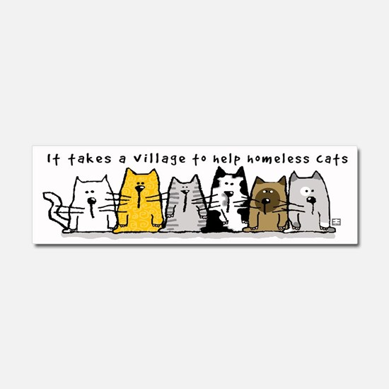Takes A Village Help Cats Car Magnet 10 x 3