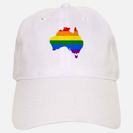 Rainbow Pride Flag Australia Map Baseball Baseball Cap