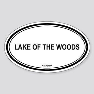 Lake Of The Woods oval Oval Sticker