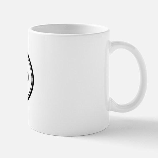 Lake Nacimiento oval Mug