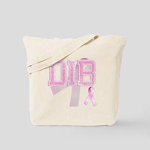 DIB initials, Pink Ribbon, Tote Bag