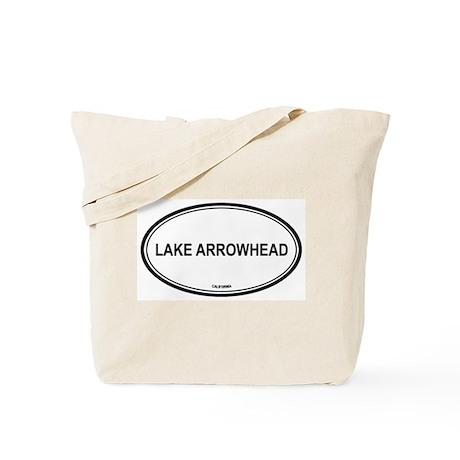 Lake Arrowhead oval Tote Bag