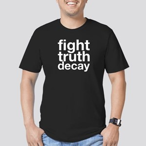 Fight Truth Decay Men's Fitted T-Shirt (dark)