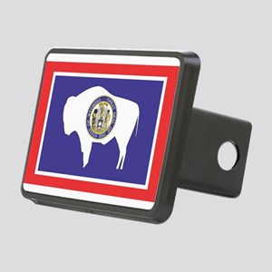 Wyoming State Flag Rectangular Hitch Cover