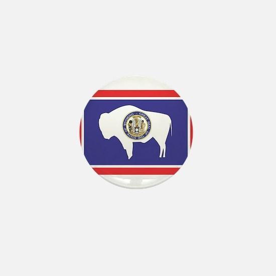 Wyoming State Flag Mini Button