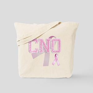 CNO initials, Pink Ribbon, Tote Bag