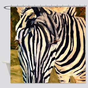 Zebra Bathroom Shower Curtain