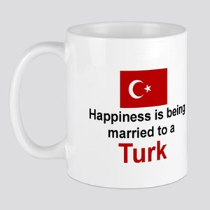 Happily Married To A Turk Mug