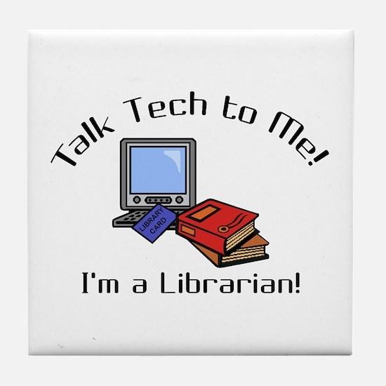 Talk Tech Tile Coaster