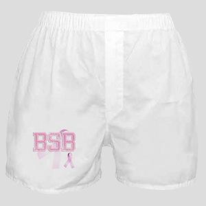 BSB initials, Pink Ribbon, Boxer Shorts