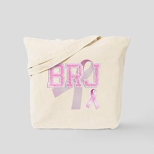 BRJ initials, Pink Ribbon, Tote Bag