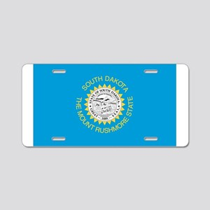 South Dakota State Flag Aluminum License Plate
