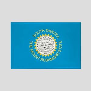 South Dakota State Flag Rectangle Magnet