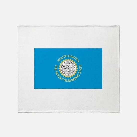 South Dakota State Flag Throw Blanket