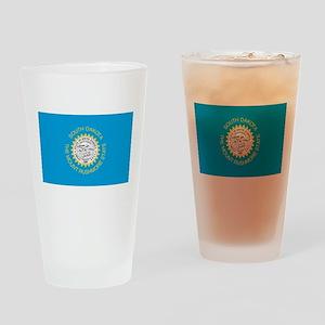 South Dakota State Flag Drinking Glass