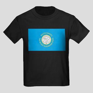 South Dakota State Flag Kids Dark T-Shirt