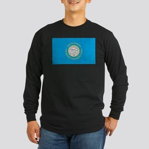 South Dakota State Flag Long Sleeve Dark T-Shirt