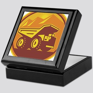 Mining Dump Truck Retro Keepsake Box