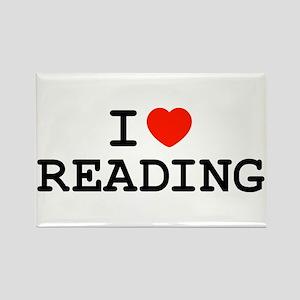 I Heart Reading Rectangle Magnet