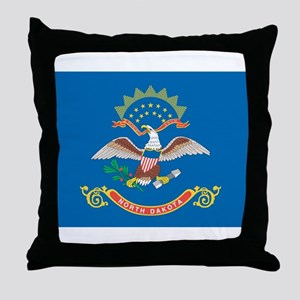 North Dakota State Flag Throw Pillow
