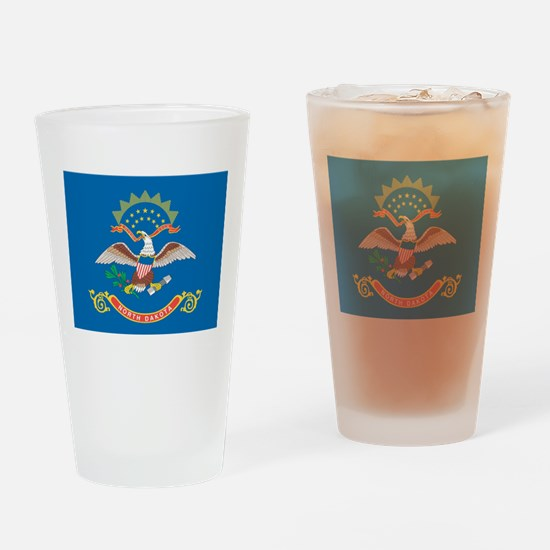 North Dakota State Flag Drinking Glass
