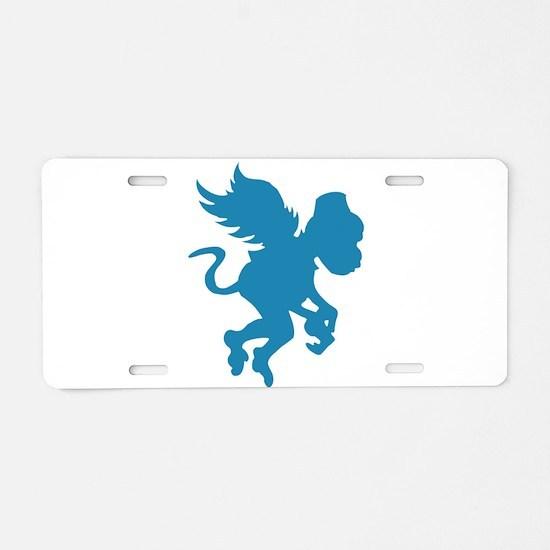 Flying Monkey Aluminum License Plate