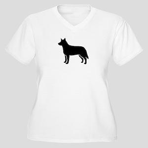 Australian Cattle Dog Women's Plus Size V-Neck T-S