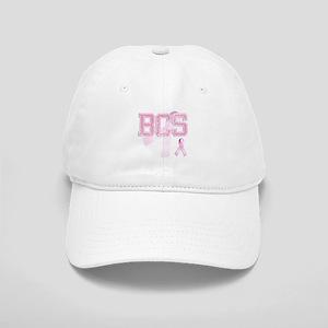 BCS initials, Pink Ribbon, Cap