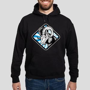 Bighorn Ram Sheep Goat Hoodie (dark)
