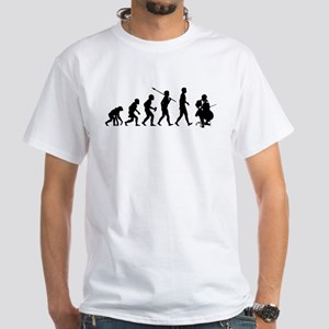 Cello Player White T-Shirt