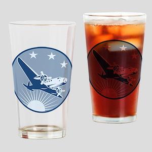 Vintage Propeller Airplane Retro Drinking Glass