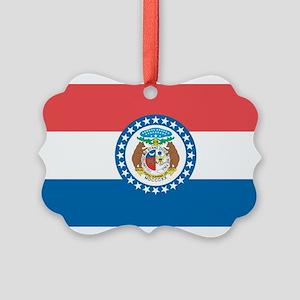 Missouri State Flag Picture Ornament
