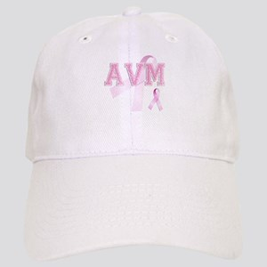 AVM initials, Pink Ribbon, Cap