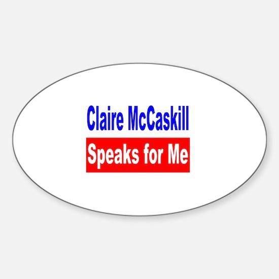 Democrat Claire McCaskill, MO Oval Decal