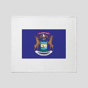 Michigan State Flag Throw Blanket