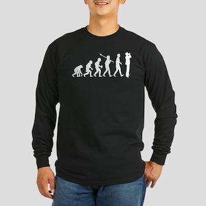 Harmonica Player Long Sleeve Dark T-Shirt
