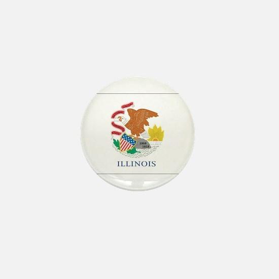 Illinois State Flag Mini Button