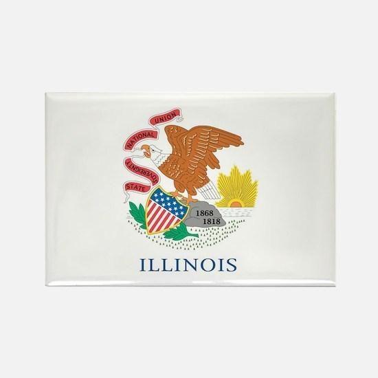 Illinois State Flag Rectangle Magnet