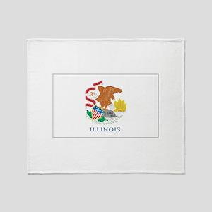Illinois State Flag Throw Blanket