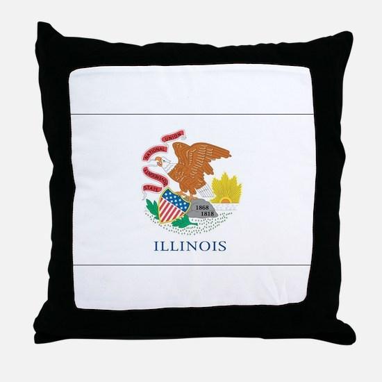 Illinois State Flag Throw Pillow