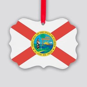 Florida State Flag Picture Ornament