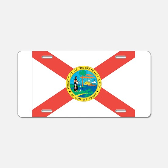 Florida State Flag Aluminum License Plate