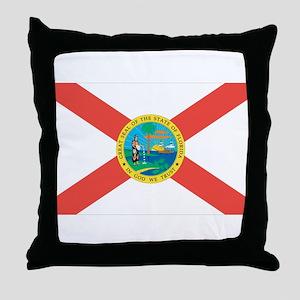 Florida State Flag Throw Pillow