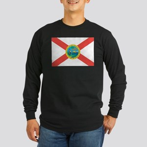 Florida State Flag Long Sleeve Dark T-Shirt