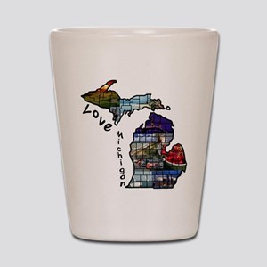 Love Michigan Shot Glass