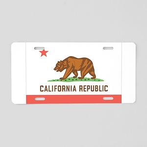 California State Flag Aluminum License Plate
