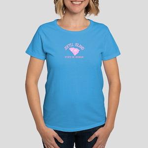 Jekyll Island GA - Map Design. Women's Dark T-Shir