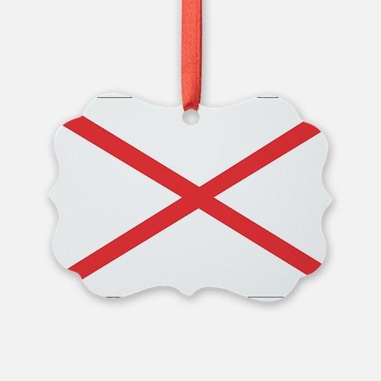 Alabama State Flag Ornament