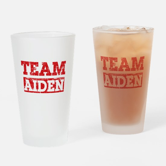 Team Aiden Drinking Glass