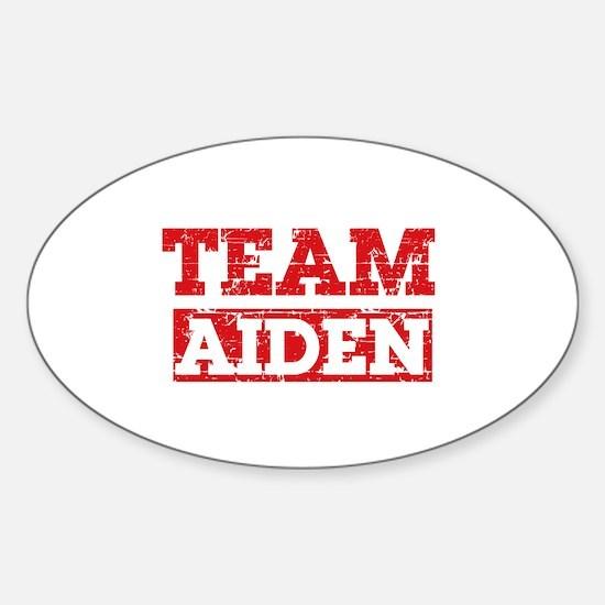 Team Aiden Sticker (Oval)